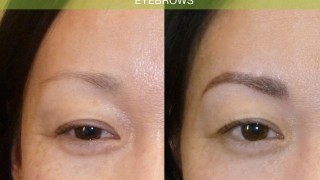 before after permanent eyebrow solution #Juvessentials