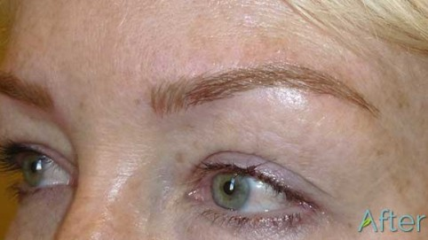 Blonde Eyebrow tattoo