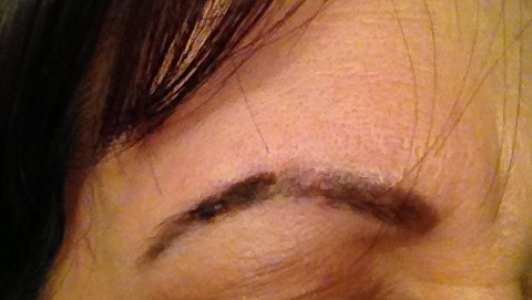 Non-laser eyebrow removal in transition from a JuvEssentials client